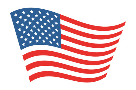 man made: American Flag Vector Illustration