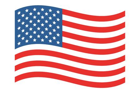 national landmark: American Flag Vector Illustration