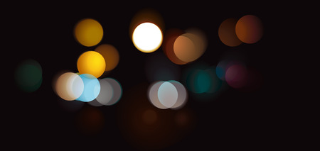 Abstract Colorful Bokeh Circles Background