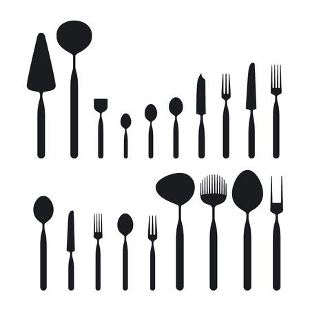Cutlery Big Set Vectores