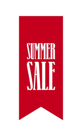 Summer Sale Ribbon Info Sign