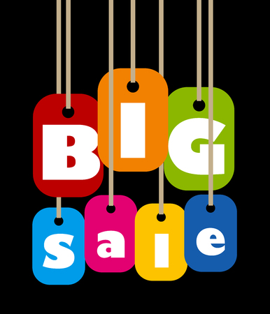 Big Sale Label Vectores