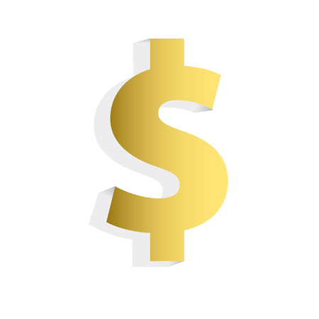 Gold Dollar Sign Vectores