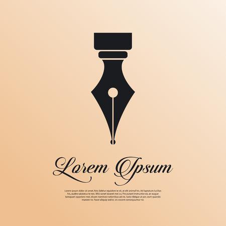 Vulpen pictogram vintage stijl