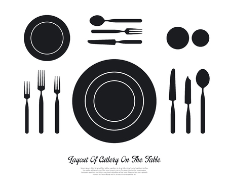 butter knife: layout of cutlery on the table