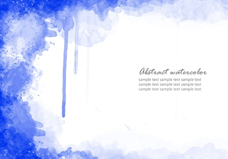 blue watercolor: Abstract Watercolor background perfect frame
