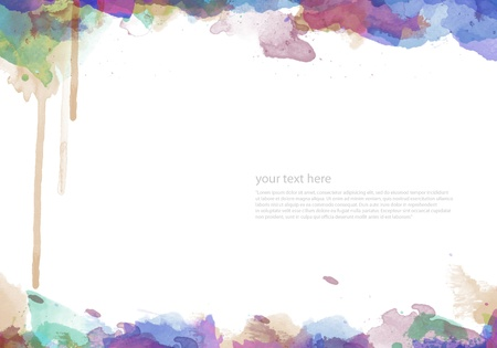 Abstract watercolor painted background for your design