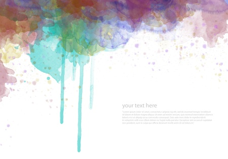 Abstract watercolor painted background for your design Stock Photo - 10259641