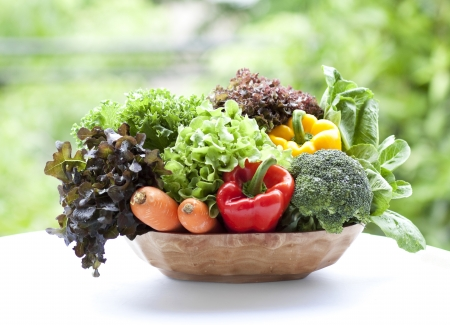 vegetables in basket Stock Photo - 10315231