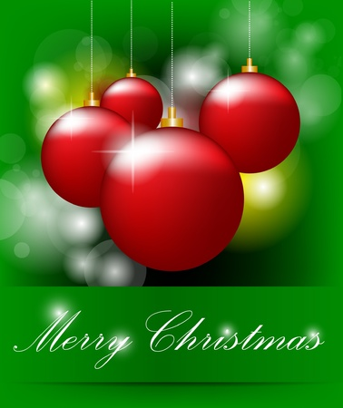 Christmas Background With Bokeh Vector