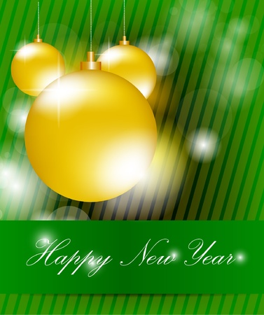 Happy New Year Background With Bokeh Vector