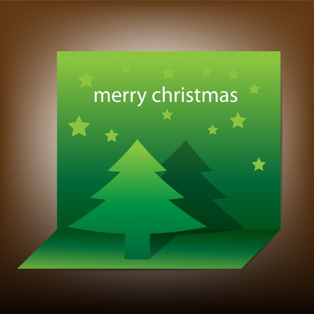 Vector pop-up christmas tree Vector