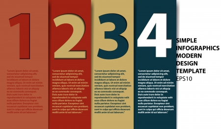 Modern Design template for infographics numbered banners graphic or website layout vector Stock Vector - 16933134