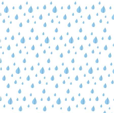 rein: Seamless blue rein drop pattern on white, stock vector illustration Illustration