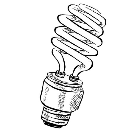 pact fluorescent light bulb sketch ink sketch bulb icon stock  vector pact fluorescent light bulb sketch ink sketch bulb icon stock vector illustration design element for web for print