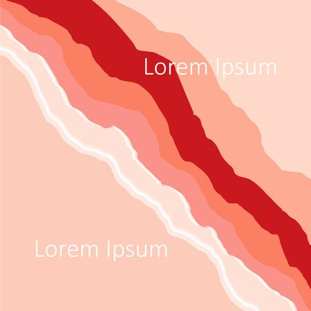 Pink and coral abstract background, Lorem Ipsum art design elements stock vector illustration for web, for print Illustration