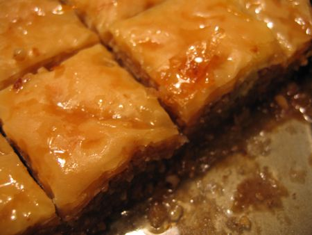 Baklava Closeup Stock Photo