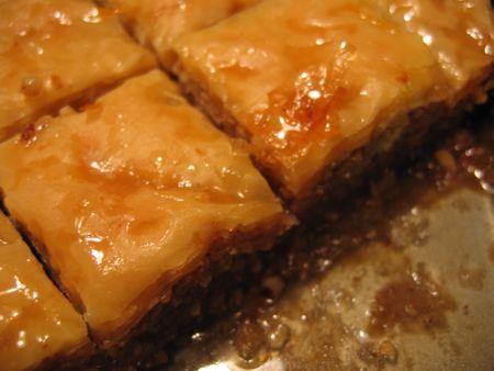 baklava: Baklava Closeup Stock Photo