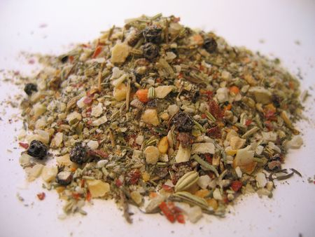 Small pile of fragrant spices