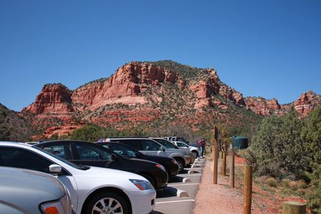 Sedona, Arizona parking lot
