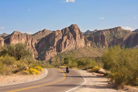 Biking through scenic Arizona Stock Photo - 4713644