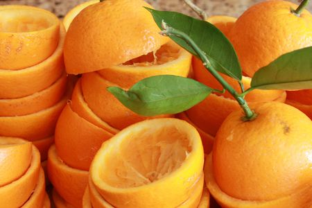 Pile of sliced oranges Stock Photo - 4722372
