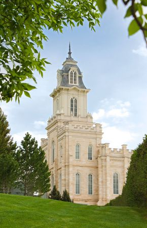 Utah Manti Temple of The Church of Jesus Christ of Latter-day Saints, built in the 1800s under Brigham Young