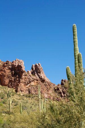 Superstition Mountains outside Mesa, Arizona Stock Photo
