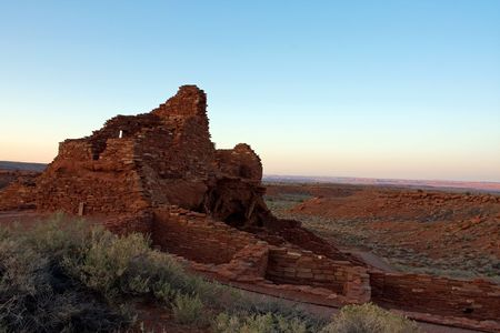 Wukoki ruins near Flagstaff, Arizona
