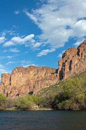 mesa: Rugged mountain peak outside Mesa Arizona