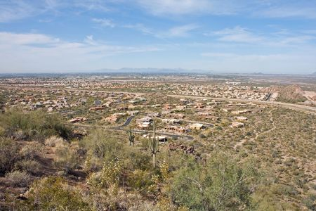 Overlooking MesaPhoenix Arizona Stock Photo