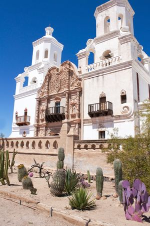 San Xavier Mission in Old Tucson Stock Photo