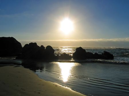 Beautiful Cannon Beach, Oregon at sunset