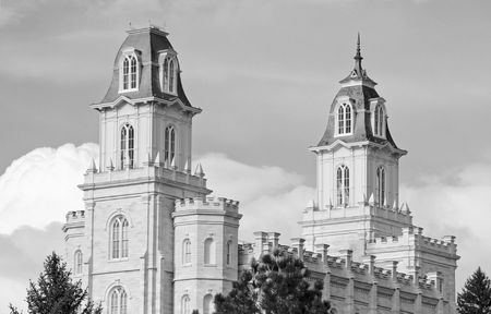 lds: Manti Temple of The Church of Jesus Christ of Latter-day Saints, dedicated in 1888 by Lorenzo Snow