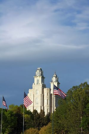 Manti Utah Temple of The Church of Jesus Christ of Latter-day Saints Stock Photo