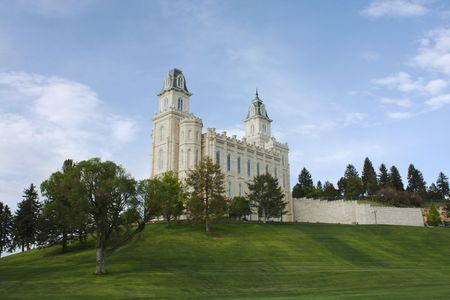 mormon temple: Manti Utah Temple of The Church of Jesus Christ of Latter-day Saints Stock Photo