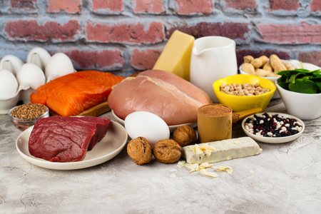 Healthy food rich of proteins Stock Photo