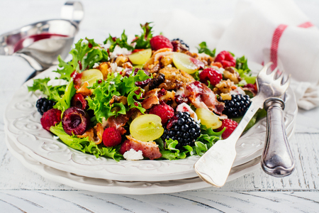 delicious colorful salad for christmas dinner copy space stock photo 84886400