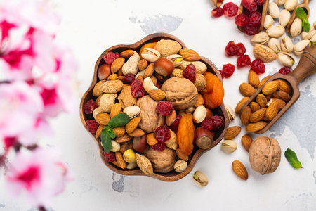 Assortment of dry fruits and nuts