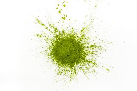 Green matcha tea powder Stockfoto