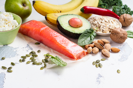 Assortment of food - natural sources of dopamine