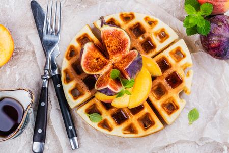 Homemade vanilla belgian waffles