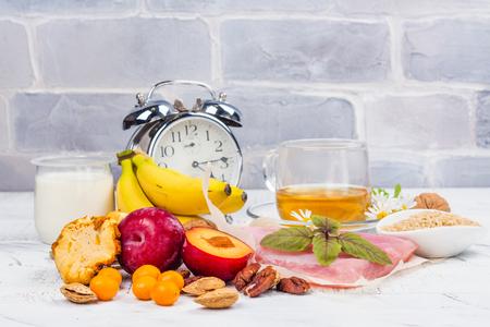 Food containing melatonin