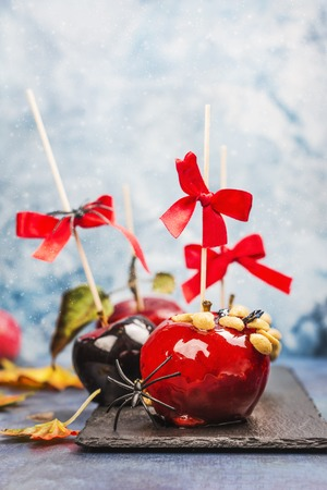 Caramelized candy apples