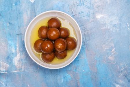 Gulab jamun - indian sweet dish Stock Photo