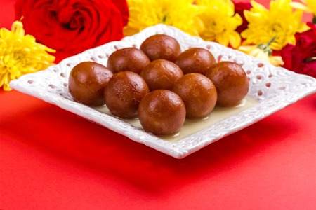 Gulab jamun - indian sweet dish Stock Photo