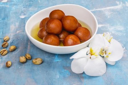 Gulab jamun - indian sweet dish Stockfoto