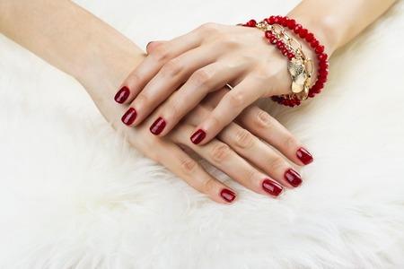 Female SPA manicure