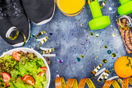 Diet after holidays concept Stockfoto