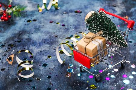 Christmas sale concept Foto de archivo - 113919444